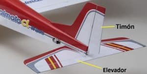 elevador timon avion rc