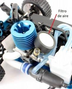 filtro de aire auto rc nitro
