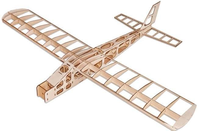 marco madera avion rc